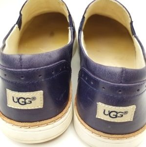 UGG LEATHER FASHION LOAFERS SZ:8.5 COL0R:NAVY BLUE